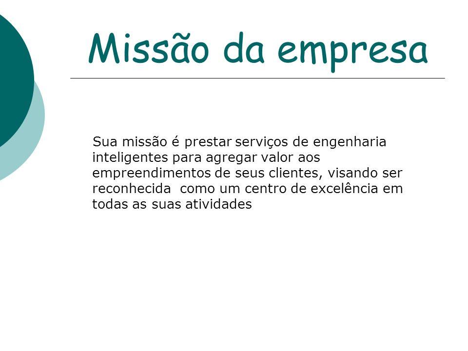 Missão da empresa