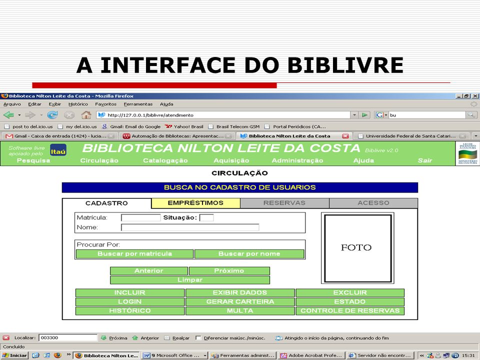 A INTERFACE DO BIBLIVRE