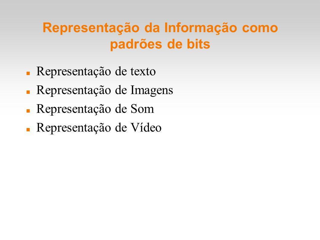 Representação da Informação como padrões de bits