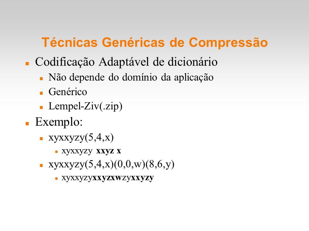 Técnicas Genéricas de Compressão