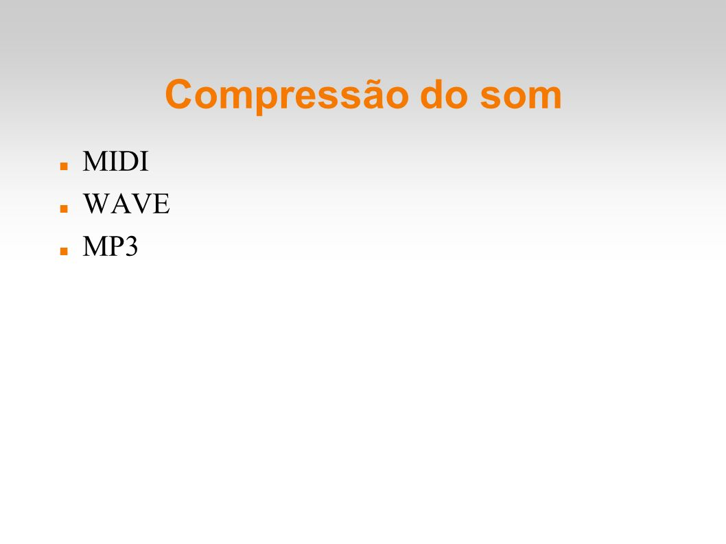 Compressão do som MIDI WAVE MP3