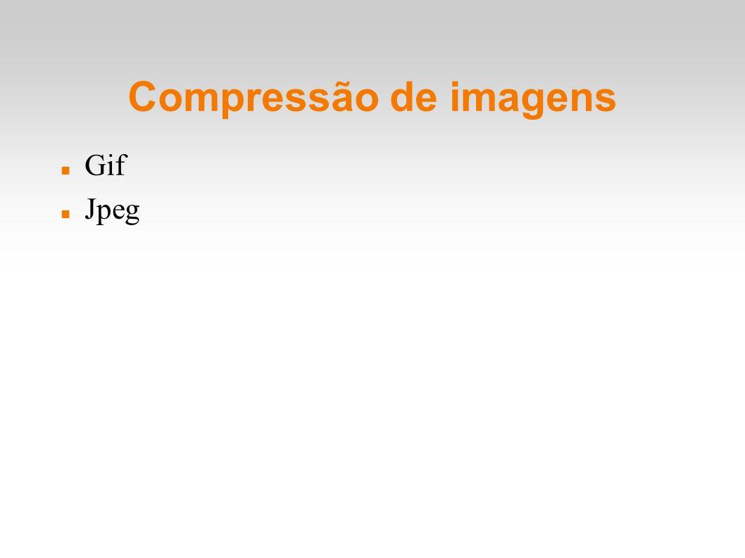Compressão de imagens Gif Jpeg