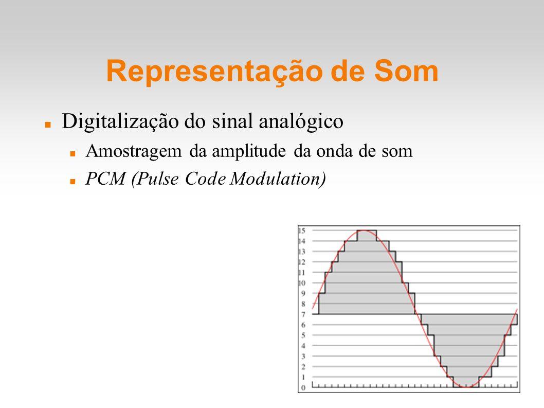Representação de Som Digitalização do sinal analógico