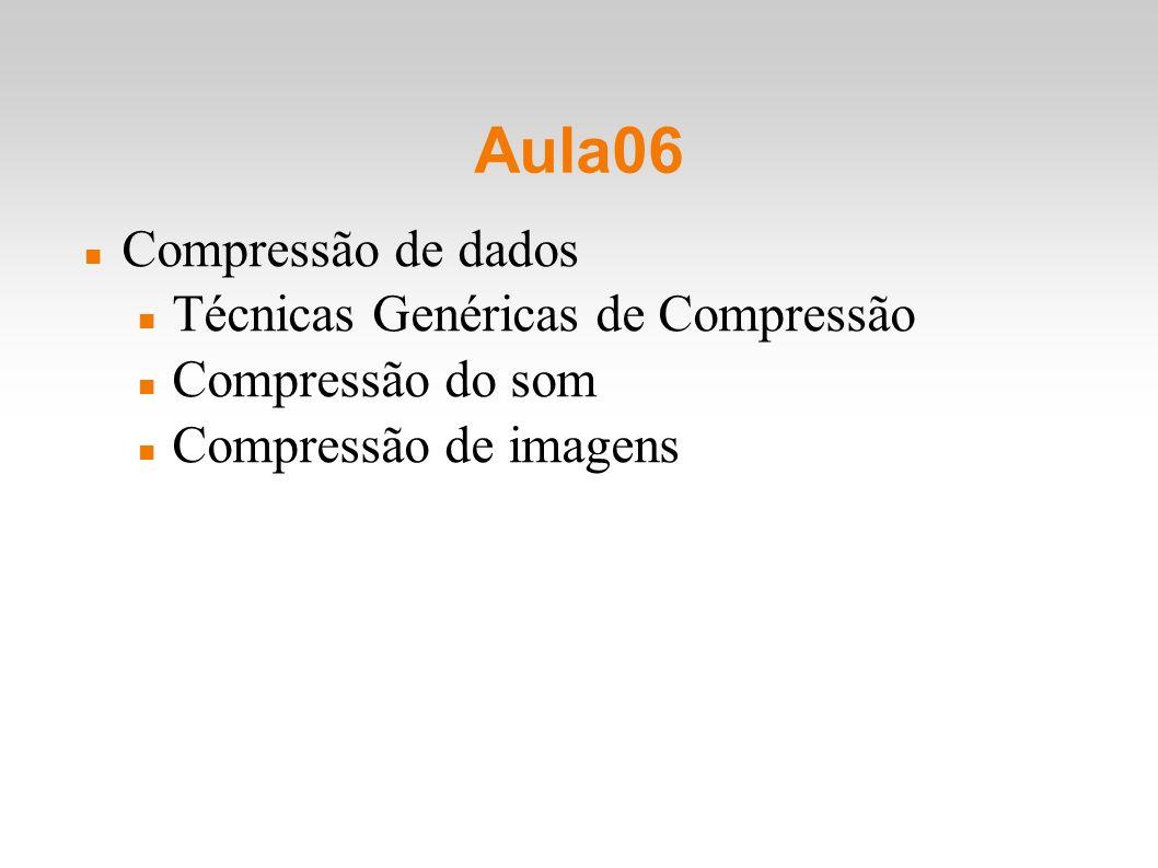 Aula06 Compressão de dados Técnicas Genéricas de Compressão