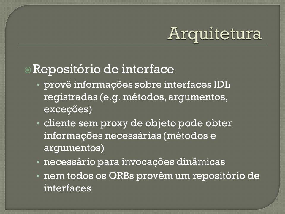 Arquitetura Repositório de interface