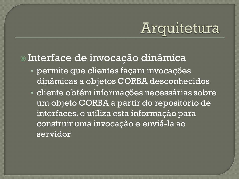 Arquitetura Interface de invocação dinâmica