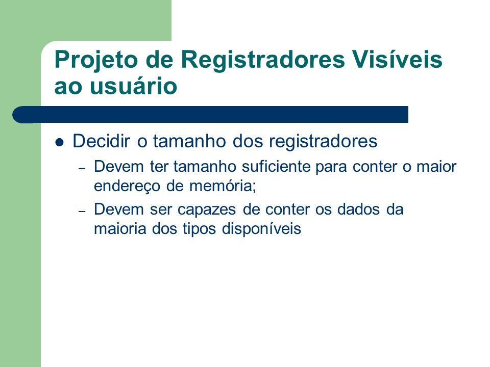 Projeto de Registradores Visíveis ao usuário