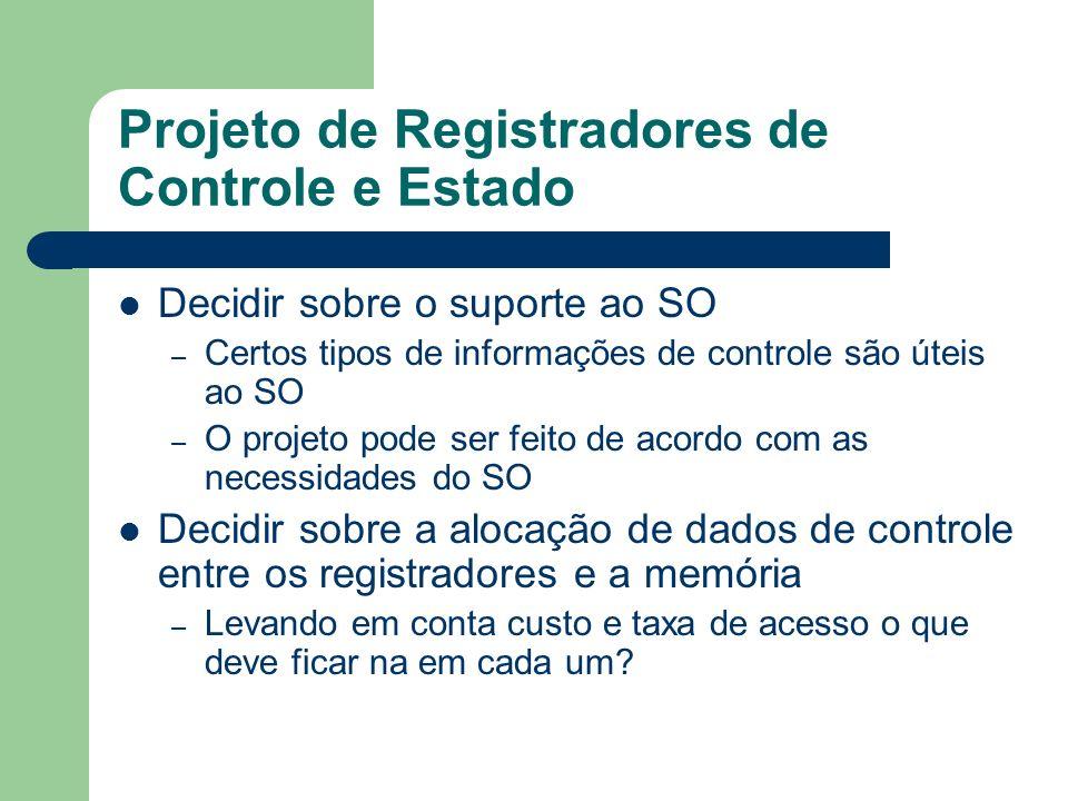 Projeto de Registradores de Controle e Estado