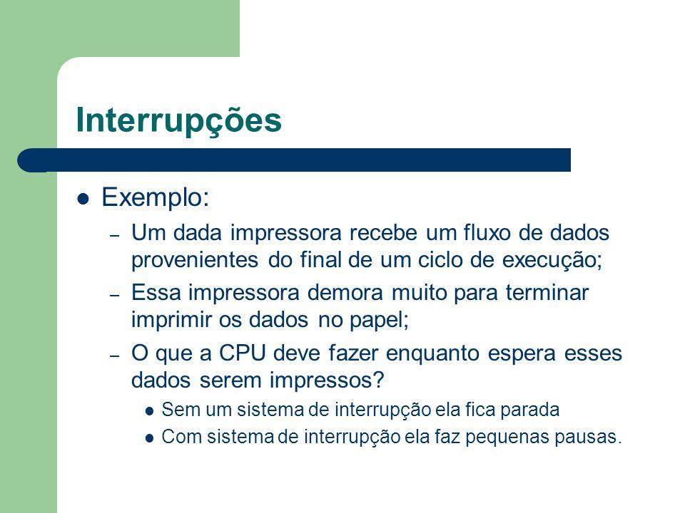 Interrupções Exemplo: