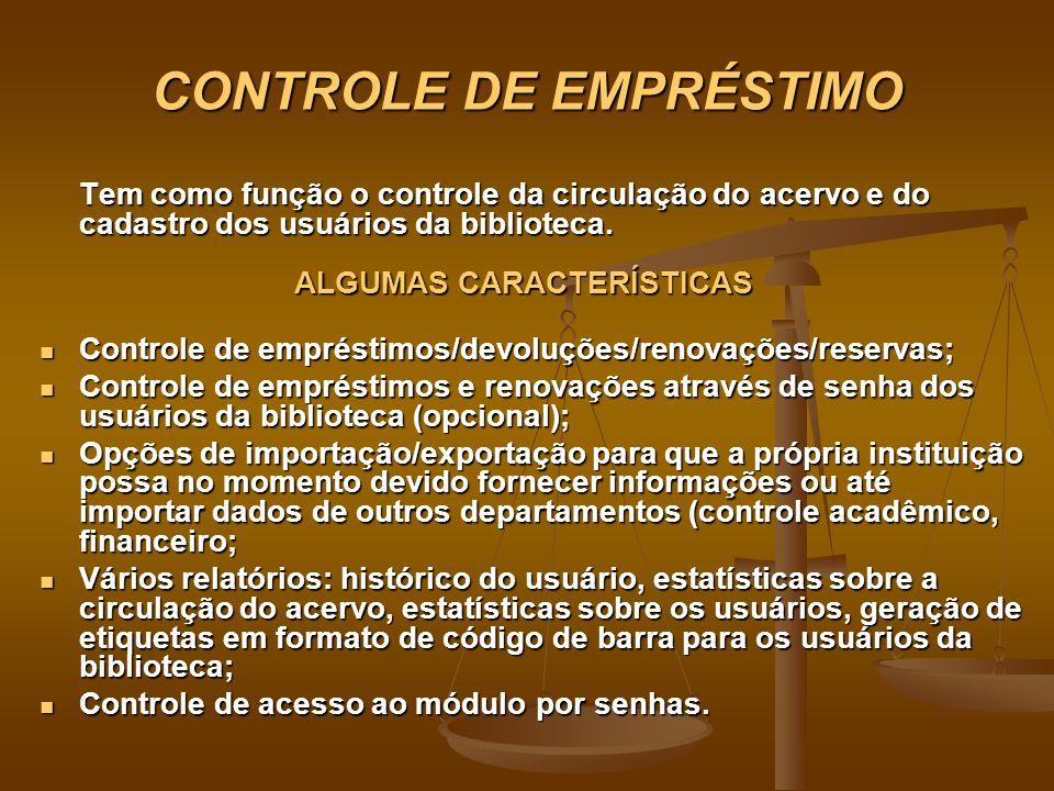 CONTROLE DE EMPRÉSTIMO