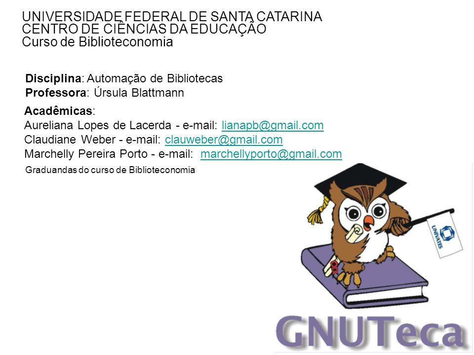 UNIVERSIDADE FEDERAL DE SANTA CATARINA CENTRO DE CIÊNCIAS DA EDUCAÇÃO