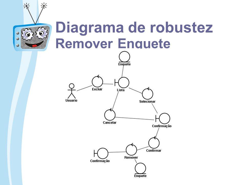 Diagrama de robustez Remover Enquete