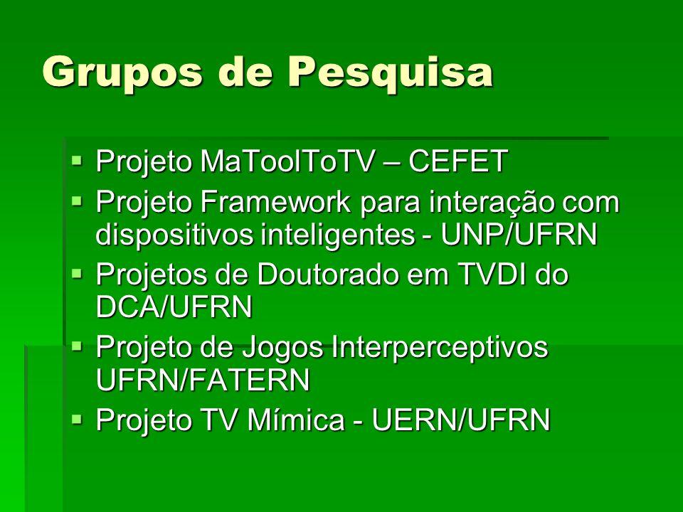 Grupos de Pesquisa Projeto MaToolToTV – CEFET