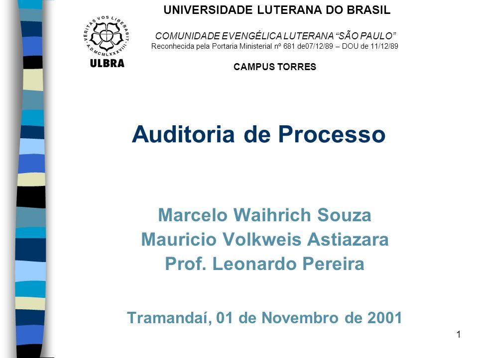Auditoria de Processo Marcelo Waihrich Souza