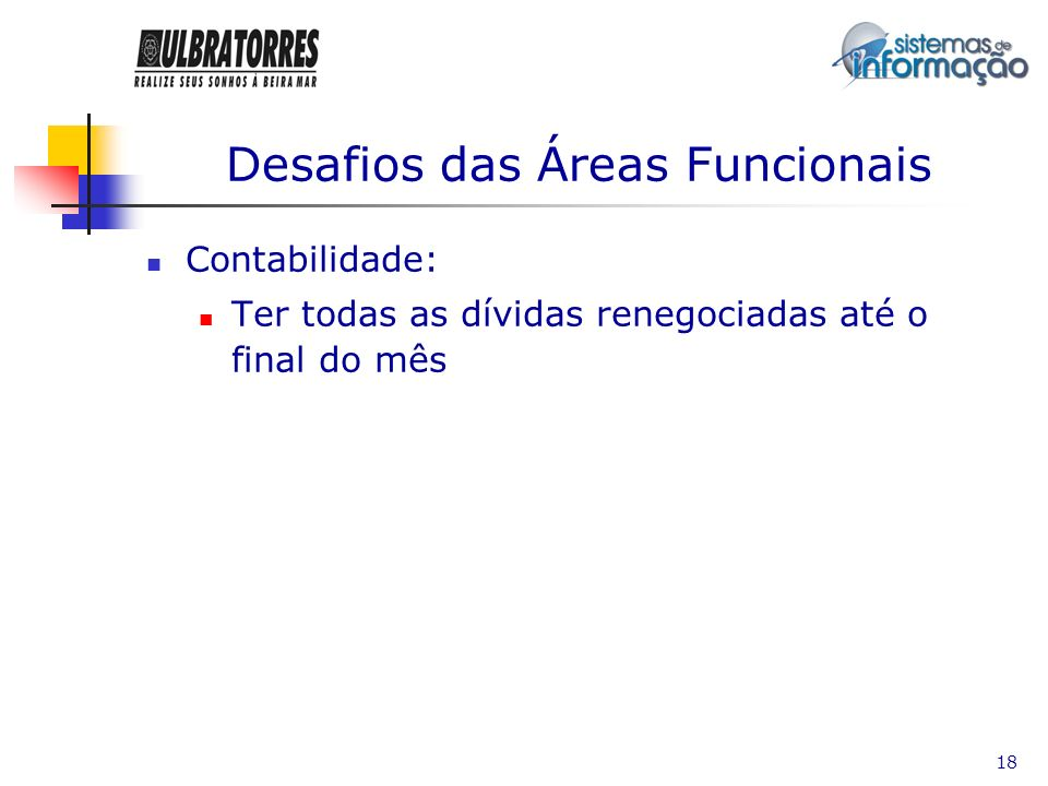 Desafios das Áreas Funcionais