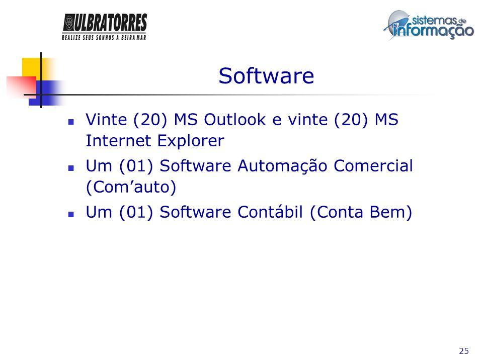 Software Vinte (20) MS Outlook e vinte (20) MS Internet Explorer