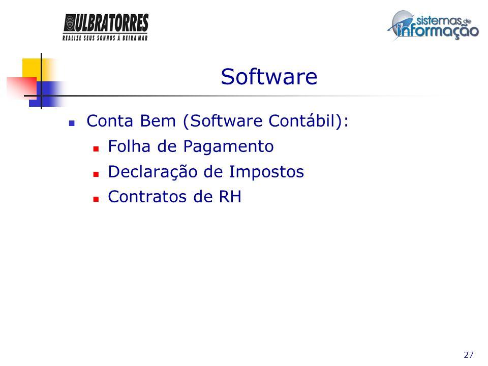 Software Conta Bem (Software Contábil): Folha de Pagamento