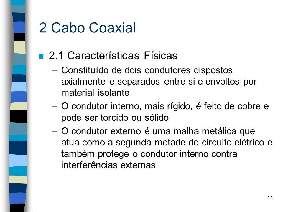 2 Cabo Coaxial 2.1 Características Físicas
