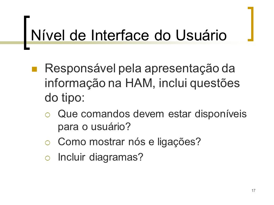 Nível de Interface do Usuário