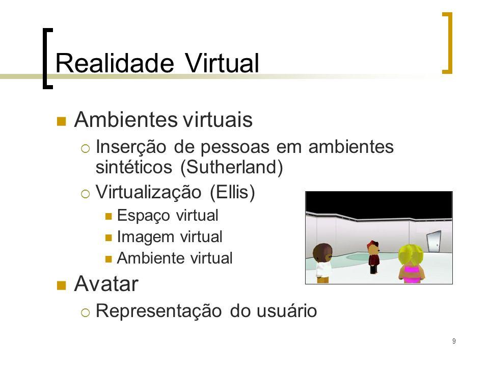 Realidade Virtual Ambientes virtuais Avatar