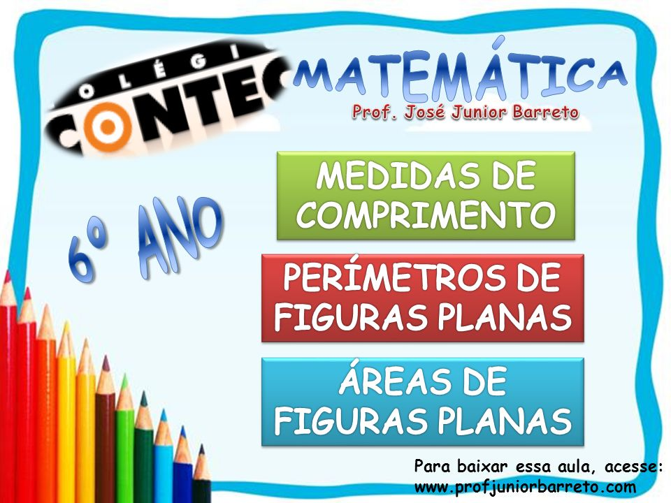 6º ANO MATEMÁTICA MEDIDAS DE COMPRIMENTO PERÍMETROS DE FIGURAS PLANAS