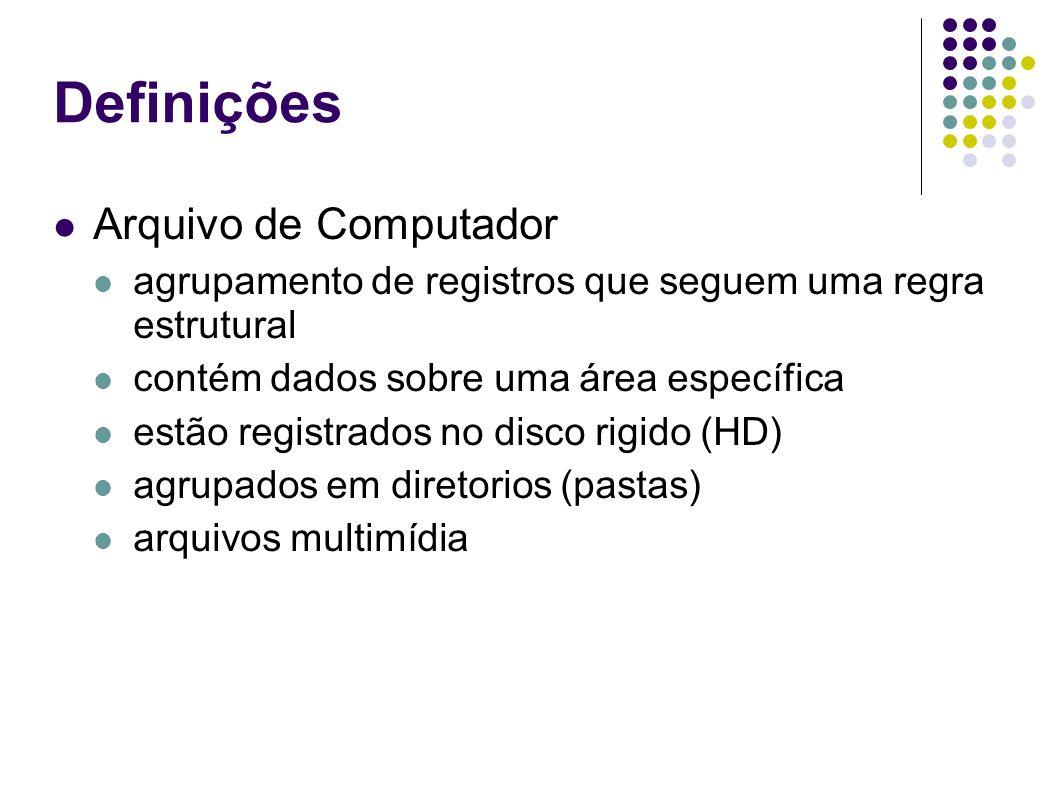 Definições Arquivo de Computador
