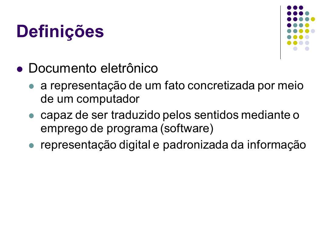Definições Documento eletrônico