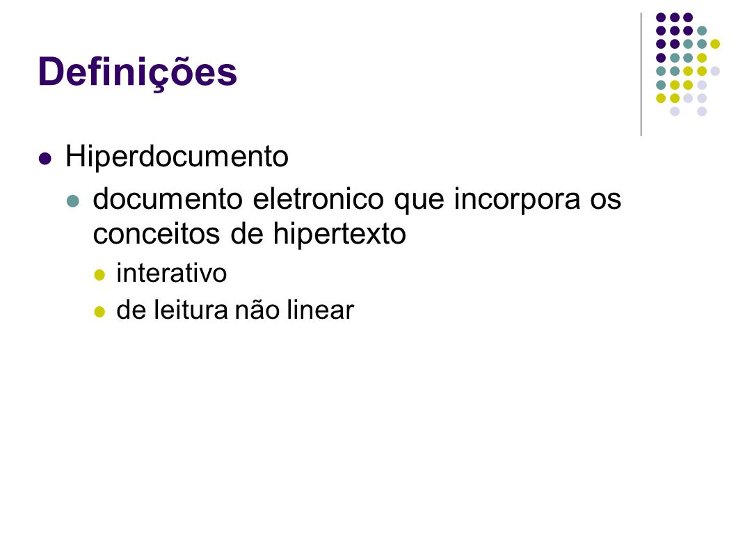 Definições Hiperdocumento