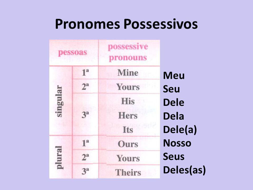 Pronomes Possessivos Meu Seu Dele Dela Dele(a) Nosso Seus Deles(as)
