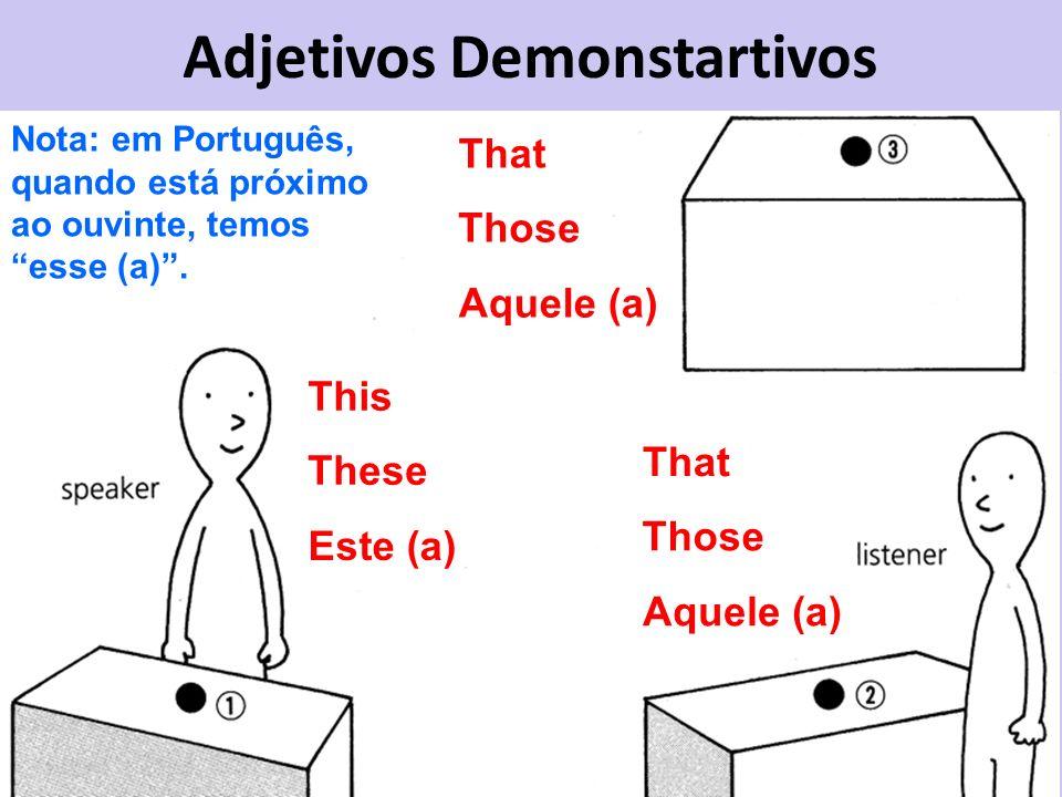 Adjetivos Demonstartivos