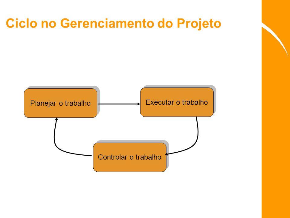 Ciclo no Gerenciamento do Projeto
