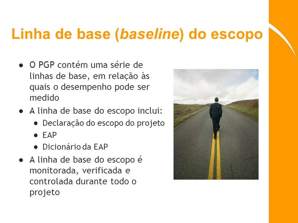 Linha de base (baseline) do escopo