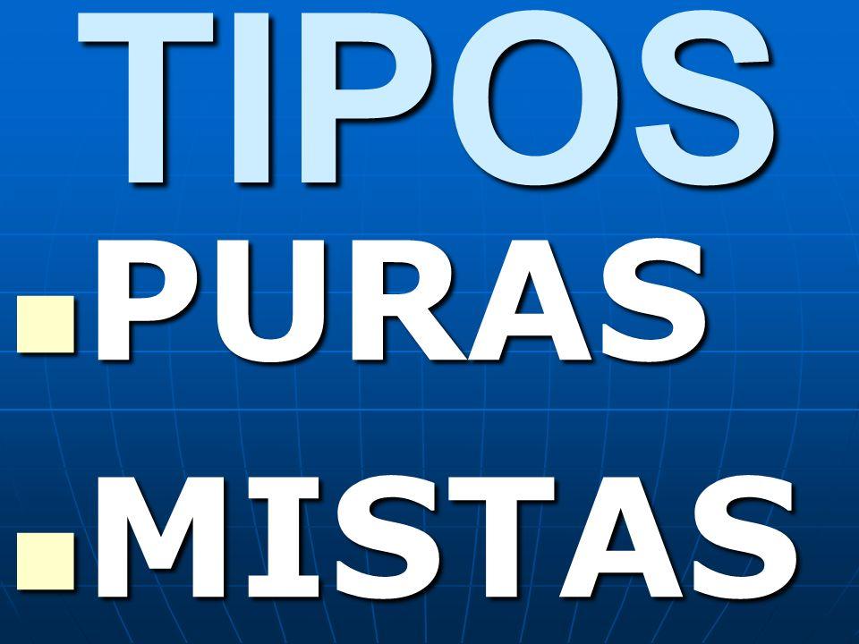 TIPOS PURAS MISTAS