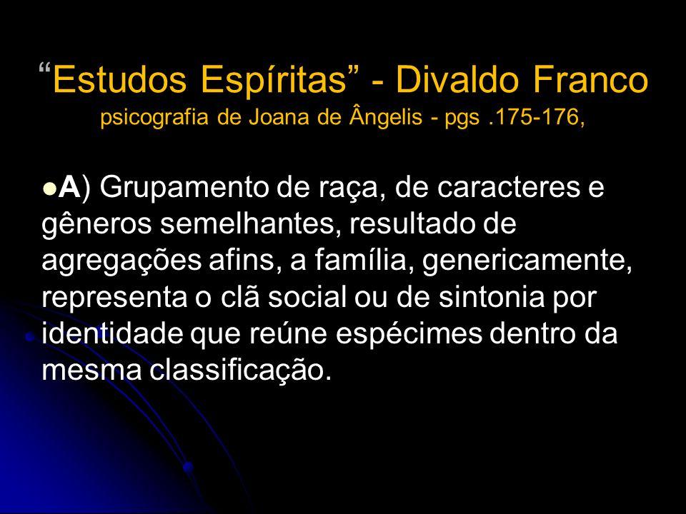 Estudos Espíritas - Divaldo Franco psicografia de Joana de Ângelis - pgs .175-176,