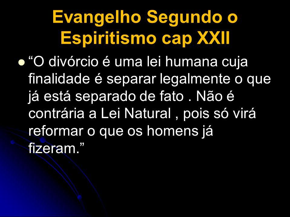 Evangelho Segundo o Espiritismo cap XXII
