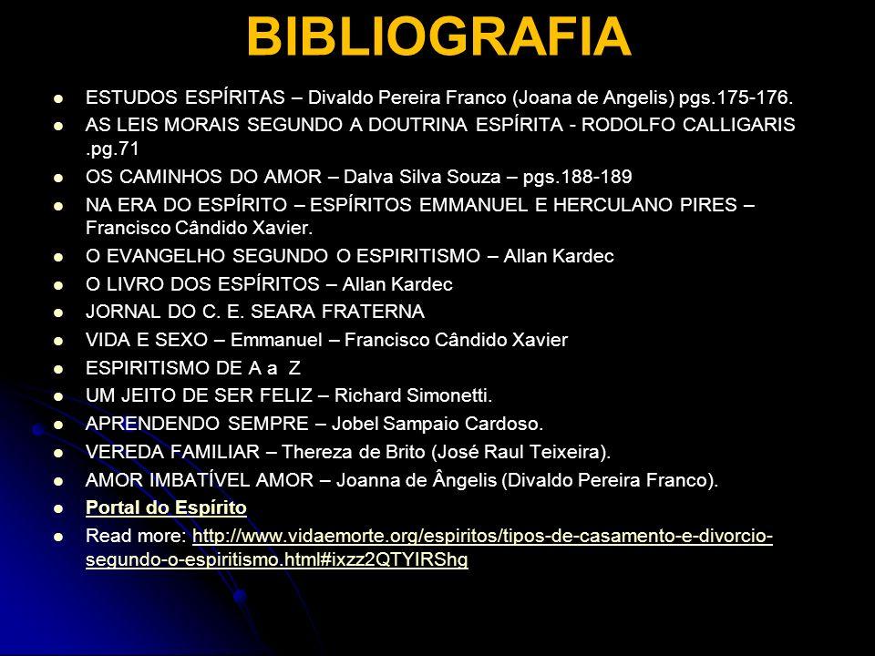 BIBLIOGRAFIA ESTUDOS ESPÍRITAS – Divaldo Pereira Franco (Joana de Angelis) pgs.175-176.