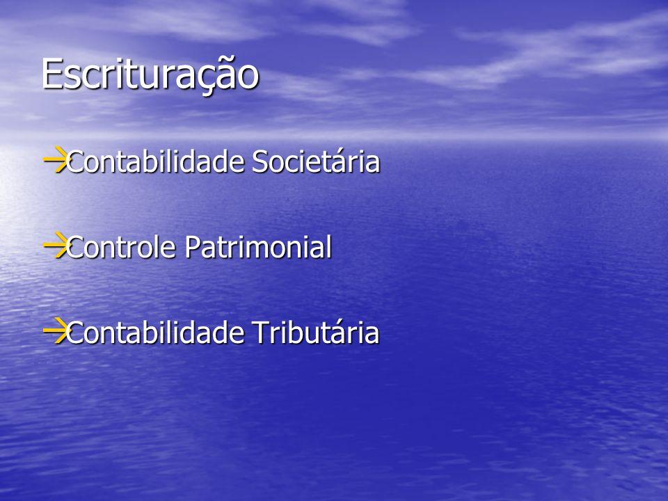 Escrituração Contabilidade Societária Controle Patrimonial