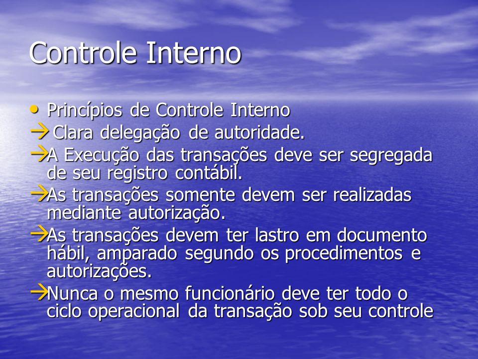 Controle Interno Princípios de Controle Interno