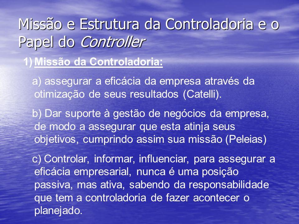 Missão e Estrutura da Controladoria e o Papel do Controller