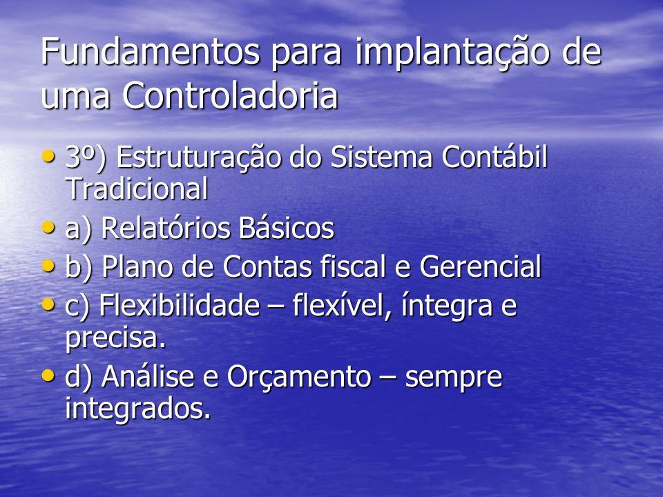 Fundamentos para implantação de uma Controladoria