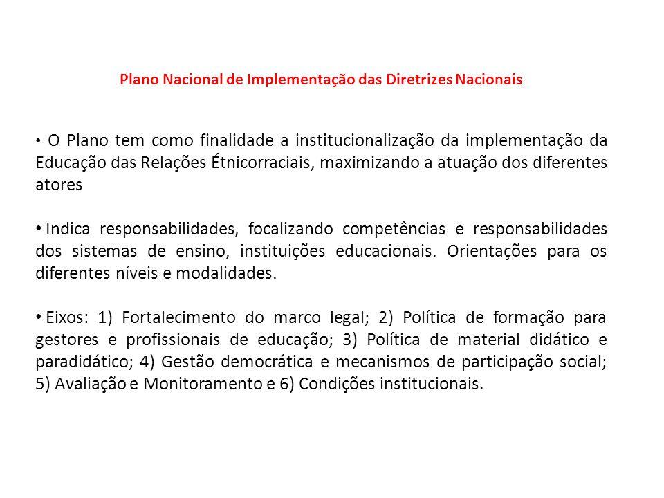 Plano Nacional de Implementação das Diretrizes Nacionais