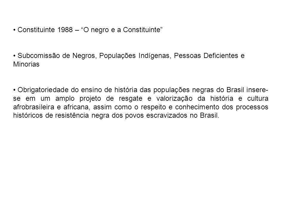 Constituinte 1988 – O negro e a Constituinte
