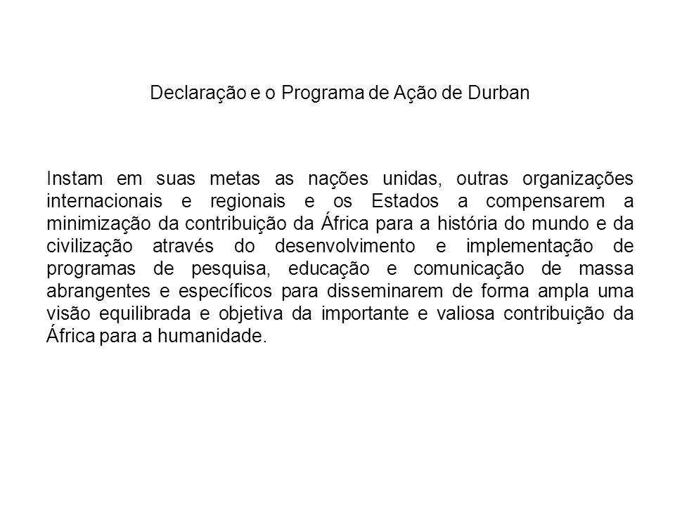 Declaração e o Programa de Ação de Durban