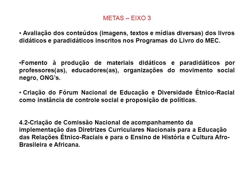 METAS – EIXO 3