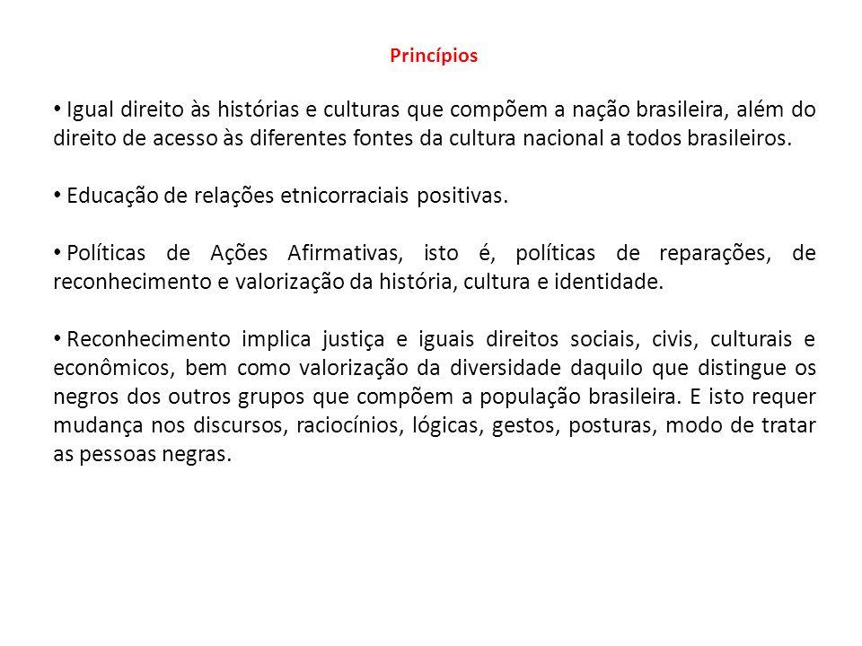 Educação de relações etnicorraciais positivas.