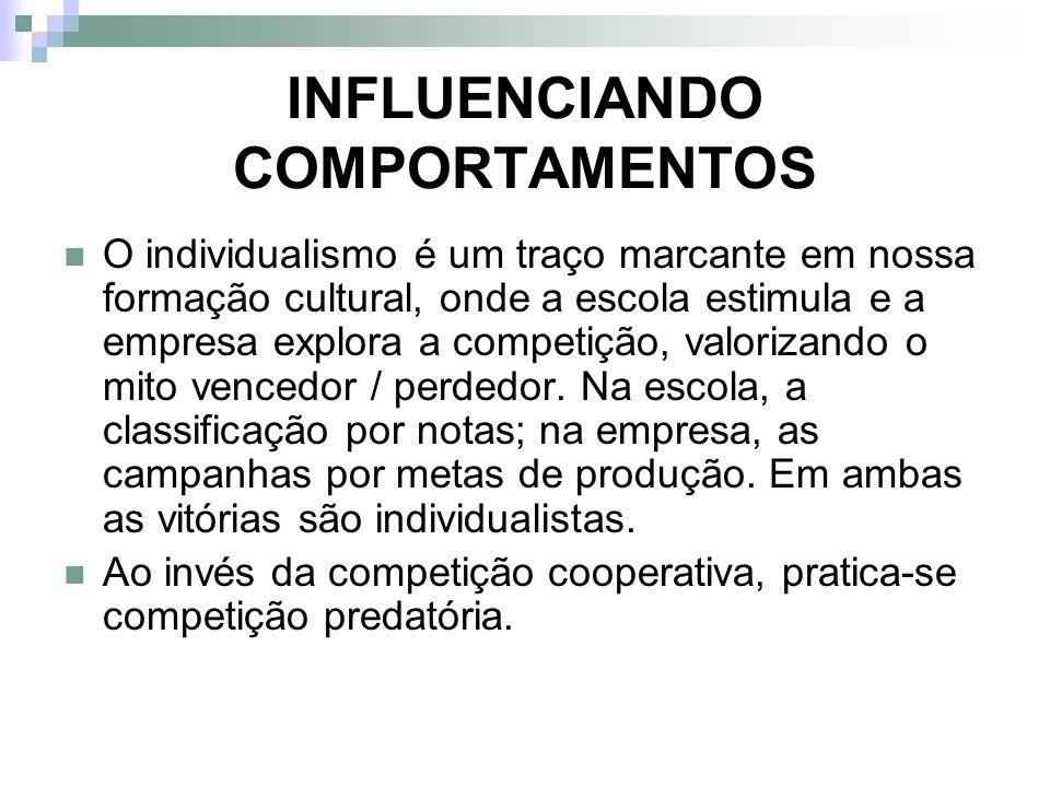 INFLUENCIANDO COMPORTAMENTOS