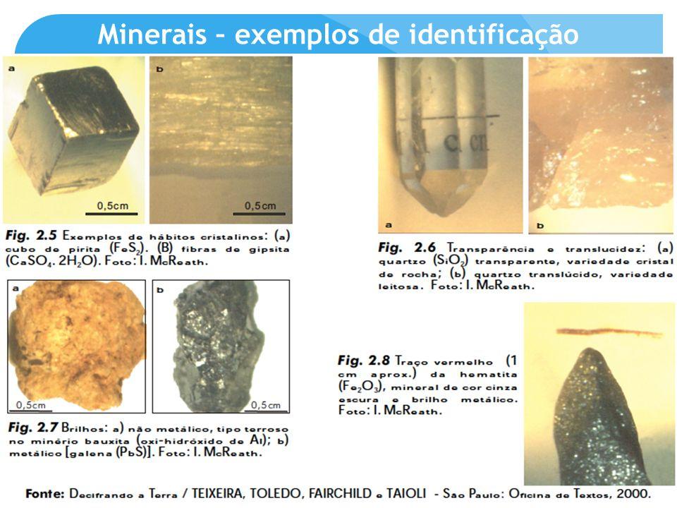 Minerais – exemplos de identificação