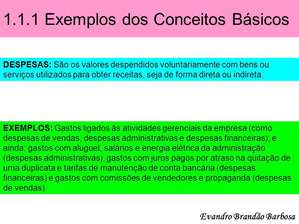 1.1.1 Exemplos dos Conceitos Básicos