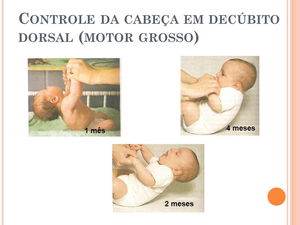 Controle da cabeça em decúbito dorsal (motor grosso)