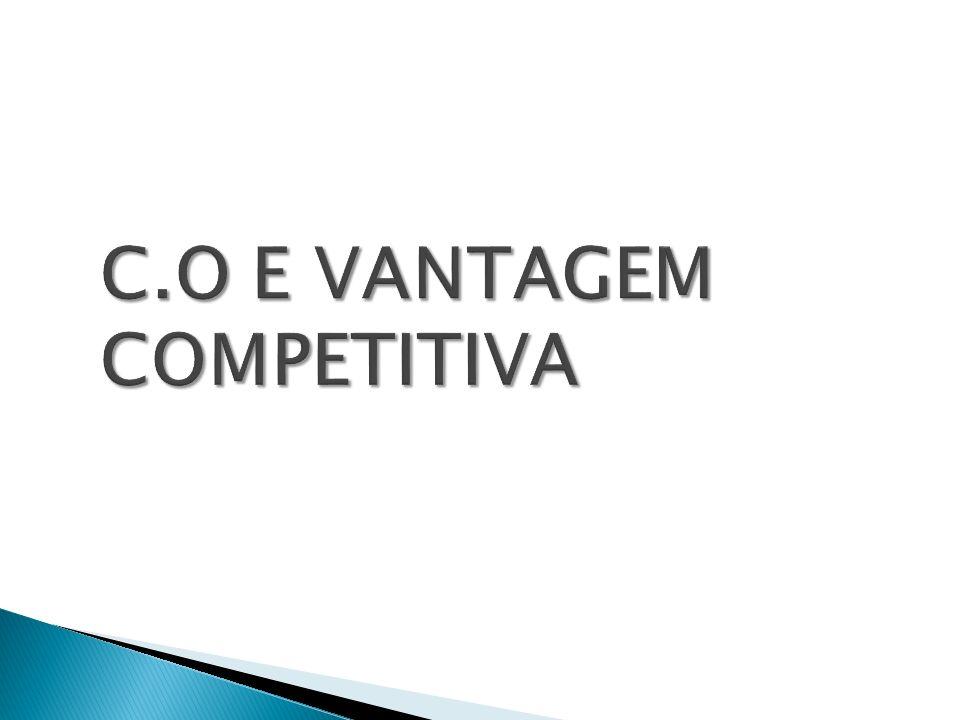 C.O E VANTAGEM COMPETITIVA